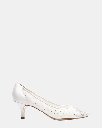 Alan Pinkus - Women's White Heeled Sandals - Spritz - Size One Size, 7 at The Iconic