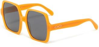 Karen Wazen 'Kaia' oversized acetate frame square sunglasses