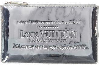 Louis Vuitton Silver Miroir Leather Pochette Plate Clutch