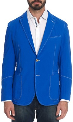 Robert Graham Notch Lapel Stretch-Cotton Sportcoat