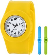 Slide Kids' SL3P-JUYLUGR Slap 3PAQ Jumbo Yellow, Light Blue and Green Watch