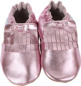 Robeez Metallic Pink Mackenzie Leather Moccasin