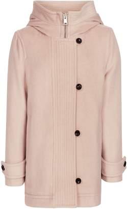 Reiss Marlowe - Hooded Coat in Blush Pink