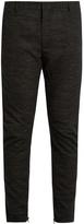Lanvin Flecked wool-blend biker trousers