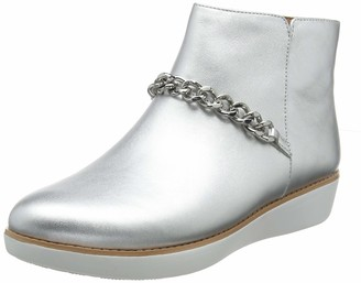 FitFlop Women's PIA CHAIN METALLIC Ankle Boots
