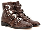 Givenchy Elegant Embossed Leather Ankle Boots