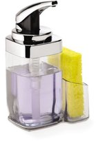 Simplehuman 22 oz. Square Push Pump with Caddy, Clear Soap Dispenser, Chrome