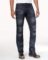 INC International Concepts Men's Slim Straight Fit Dark Wash Moto Jeans, Only at Macy's