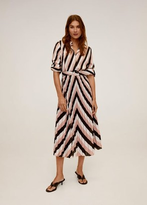 MANGO Geometric print midi dress black - 2 - Women
