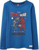 Joules Boys Wolf v Bear Printed T Shirt