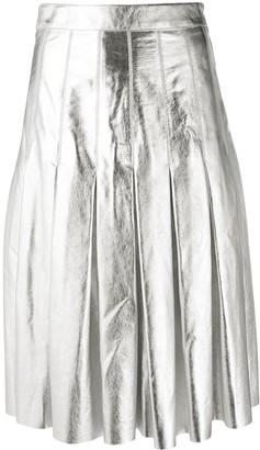 Golden Goose Metallic Pleated Skirt