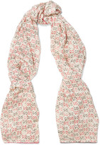 Gucci Printed Silk Scarf - Off-white