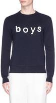 Comme des Garcons 'Boys' print sweater