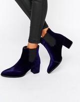 Park Lane Velvet Heeled Chelsea Boots