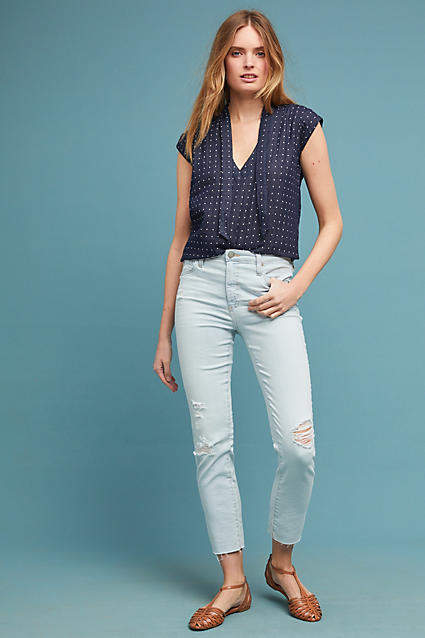 AG Jeans The Isabelle High-Rise Straight Jeans