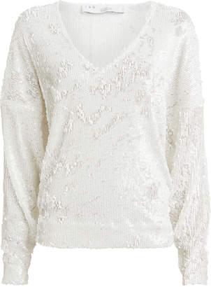 IRO Around Sequin-Embellished Sweater