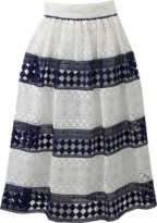 philosophy Stripe Lace Skirt