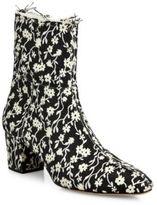 Altuzarra Callie Floral Block-Heel Ankle Booties