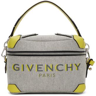 Givenchy Grey and Yellow Coffer Box Messenger Bag