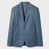 Paul Smith A Suit To Travel In - Tailored-Fit Slate Blue Windowpane Check Blazer