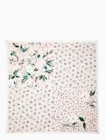 Kate Spade Botanical patchwork silk square scarf