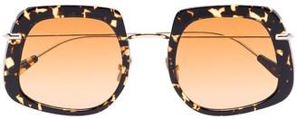Brown Barton Havana square sunglasses