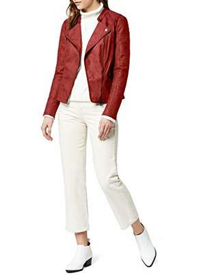 Only Women's onlAVA FAUX LEATHER BIKER OTW NOOS Kunstlederjacke Long Sleeve Jacket,6 (Manufacturer Size: )