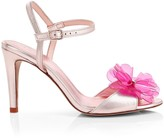 Kate Spade Giulia Flower Metallic Stiletto Sandals