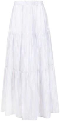 Fabiana Filippi Tiered Stripe Print Skirt