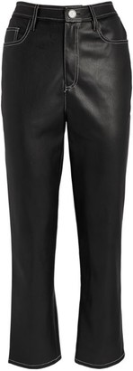STAUD Eli Vegan Leather Cropped Trousers