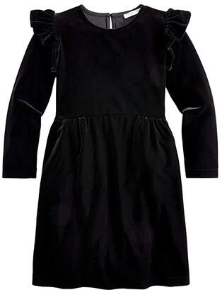 crewcuts by J.Crew Velvet Dress (Toddler/Little Kids/Big Kids) (Black) Girl's Clothing
