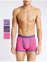 M&s Collection 3 Pack Stretch Assorted Trunks
