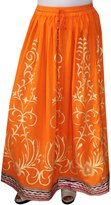 Maple Clothing Women Printed Rayon Long Skirt India Clothes