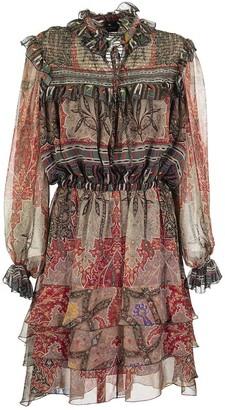 Etro Breton Paisley Print Chiffon Dress