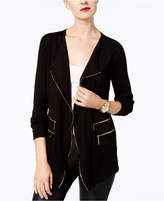 INC International Concepts Zip-Detail Cardigan, Created for Macy's