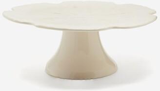 Cake Bordallo Pinheiro - Cabbage Large Earthenware Stand - White