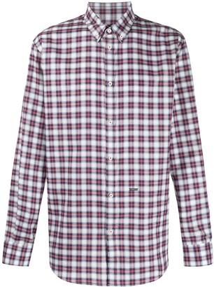 DSQUARED2 Checked Long Sleeves Shirt