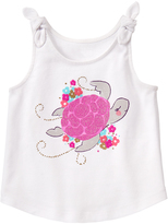 Gymboree White & Pink Turtle Graphic Tank - Infant & Toddler