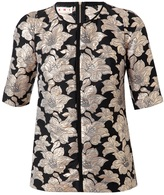 Marni Cotton floral brocade top