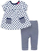 Offspring Baby Girl's Polka Dot Dress and Leggings Set