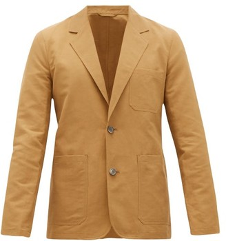 Rochas Patch-pocket Technical-poplin Blazer - Mens - Brown