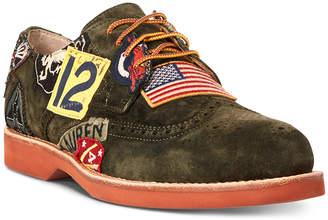 Polo Ralph Lauren Men Rhett Wingtip Patch Oxford Men Shoes