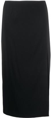 RED Valentino Side Slit Midi Skirt