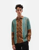 Pierre Louis Mascia Aloeuw Tiger Stripe Houndstooth Shirt