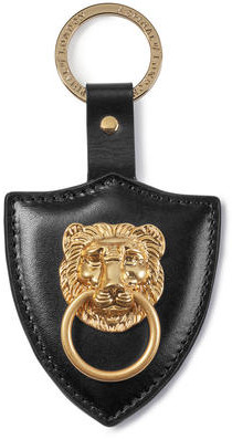 Aspinal of London Large Lion & Shield Keyring