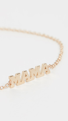 Zoë Chicco 14k Gold Tiny Capital Letter Mama Bracelet