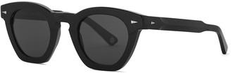 AHLEM Montorgueil black oval-frame sunglasses
