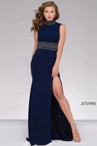 Jovani Fitted High Neck Jersey Prom Dress 49790