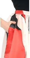 Alice + Olivia Abella Ball Gown Colorblock Maxi Skirt