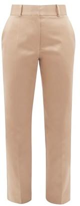 Haider Ackermann Taroni Tailored Silk Satin Trousers - Womens - Cream